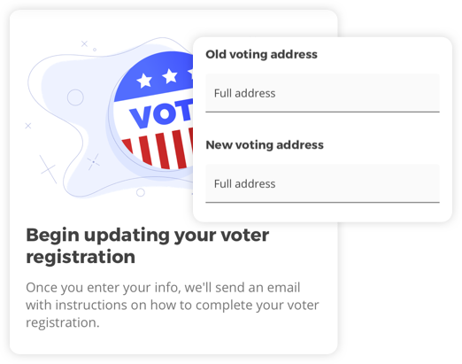 app voter registration screens