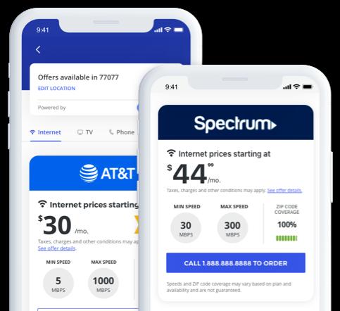 app tv & internet screens