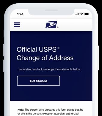 app change of address screen