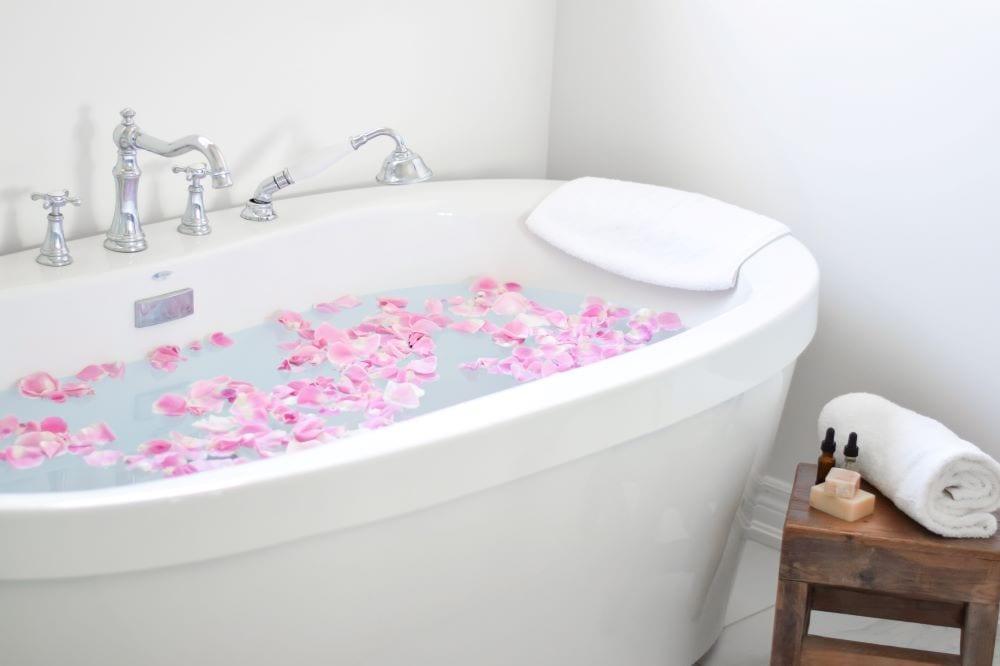 Relaxing bath, luxury spa bath