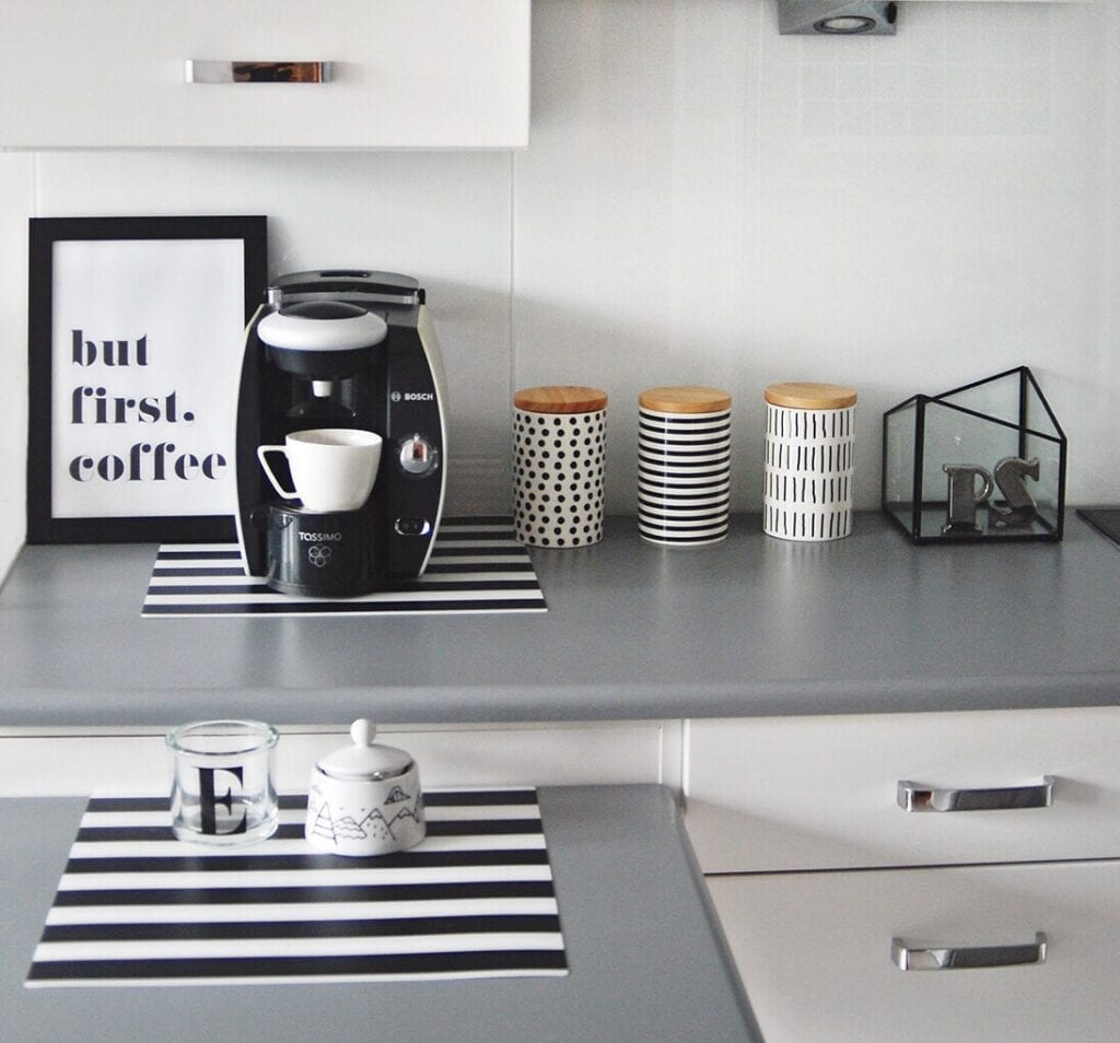 Kitchen with coffee pot