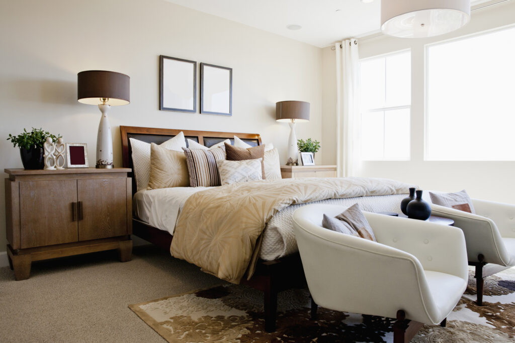 bedroom with armchairs