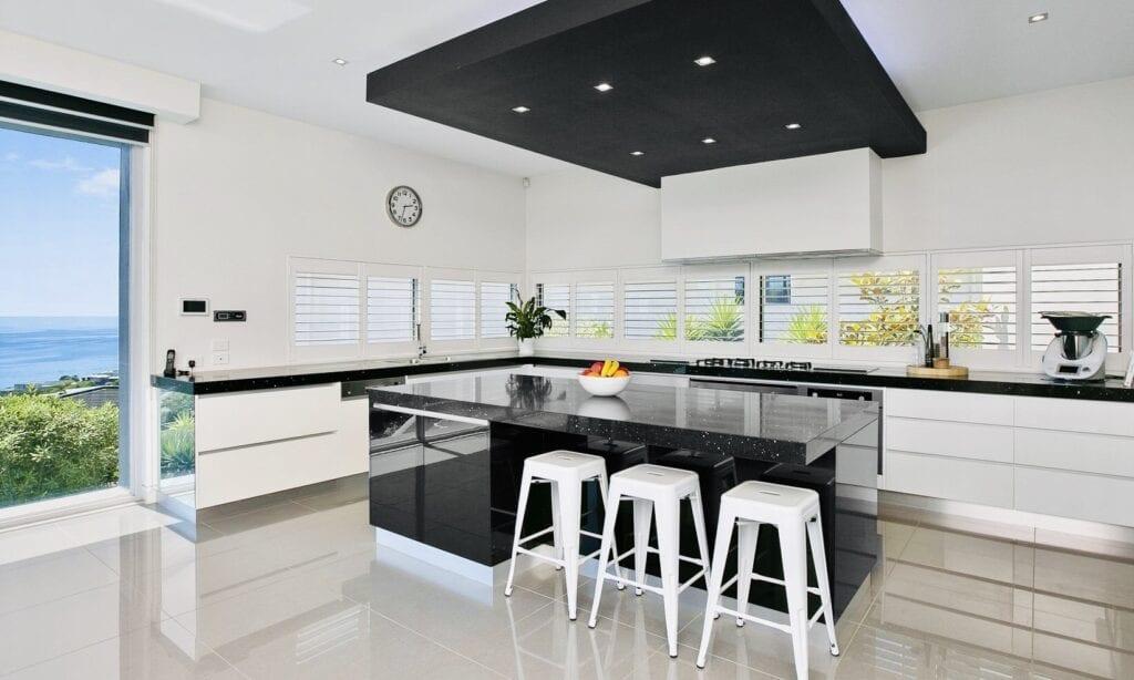 black grand modern kitchen