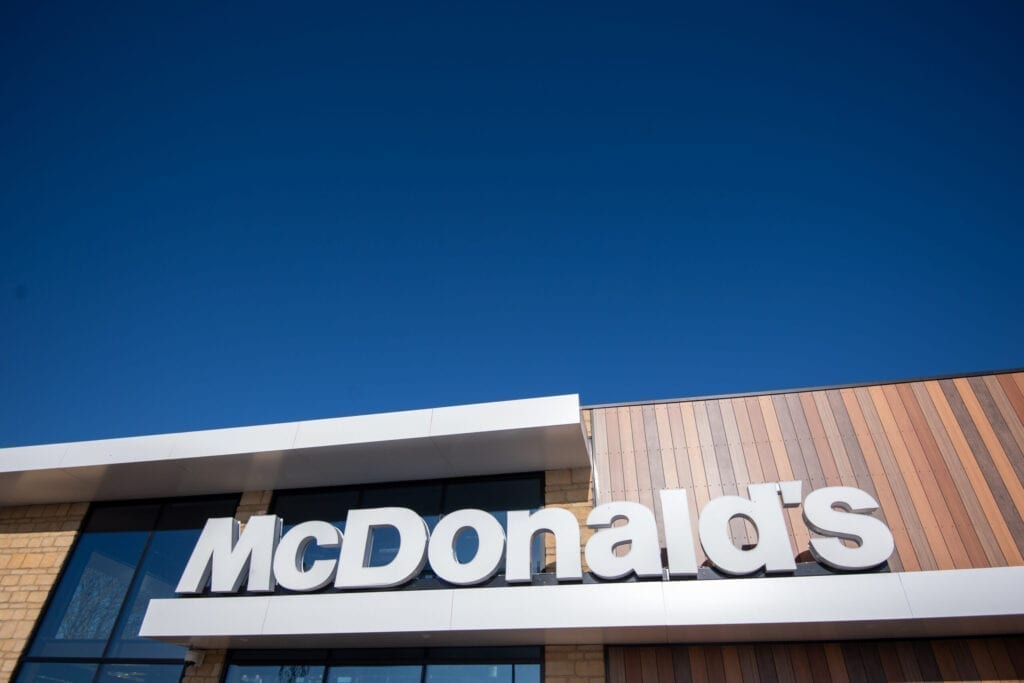 A new McDonald's restaurant, based on the outskirts of Oakham, which has opened as Rutland becomes the last county in England to have a branch of the fast food restaurant. (Photo by Joe Giddens/PA Images via Getty Images)