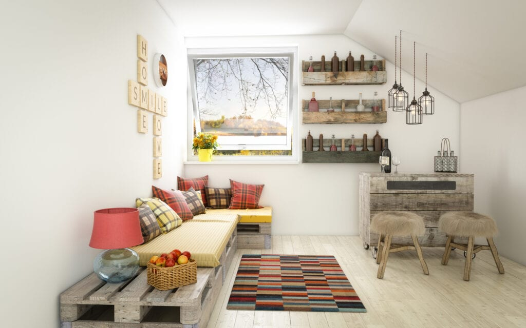 Small rustic living room