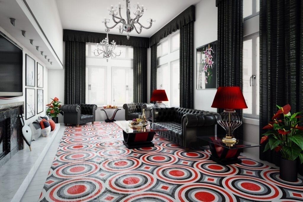 How To Design Your Room Decor Around Your Bold Area Rug