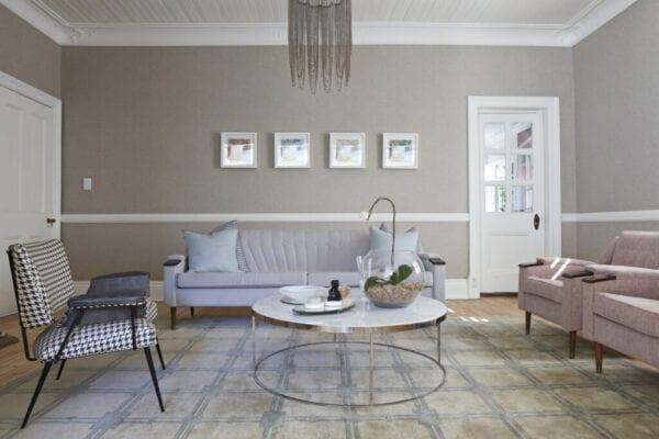 Interior shot of beautiful stylish living room