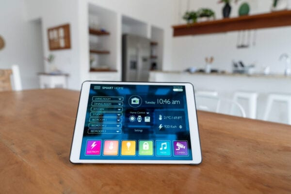 Using a tablet computer to control a smart home system