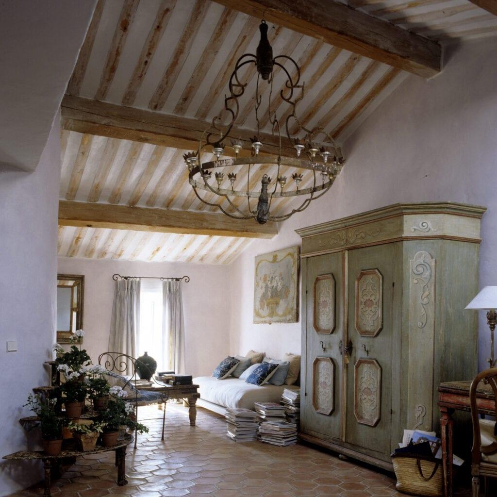 Antique furniture in room
