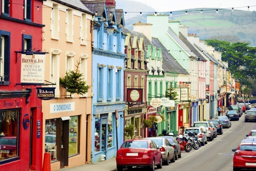 Colorful houses in Kenmare, Ireland