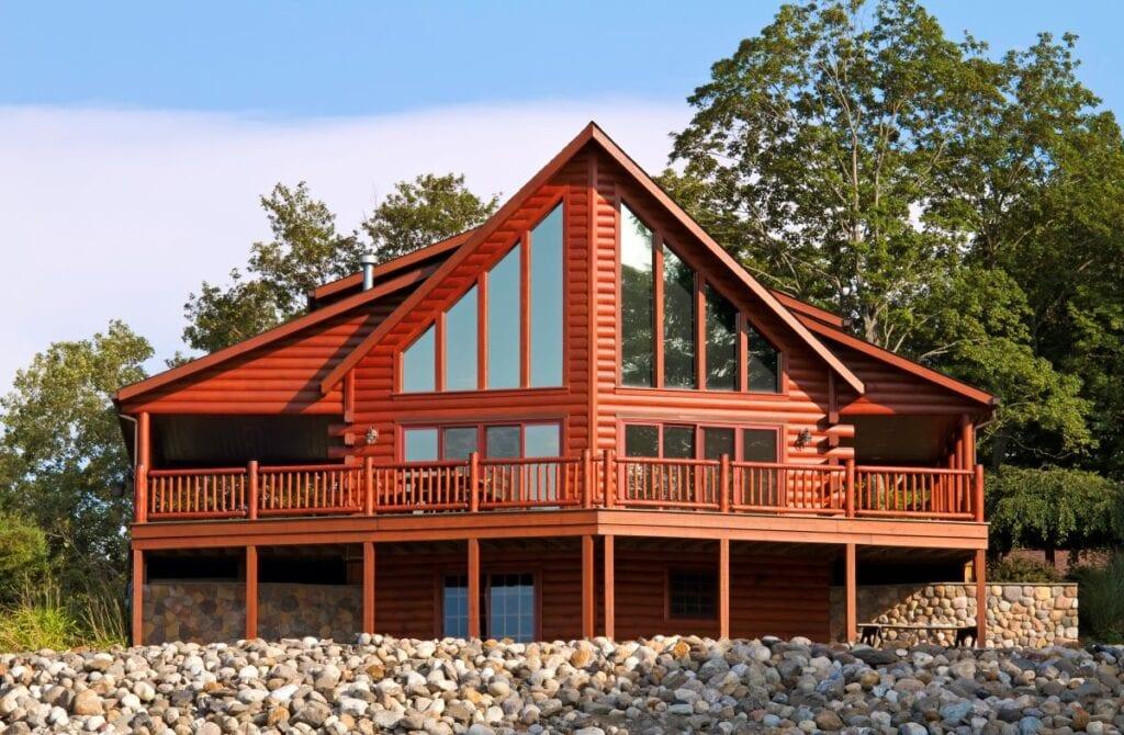 Exterior or contemporary, rustic, log cabin