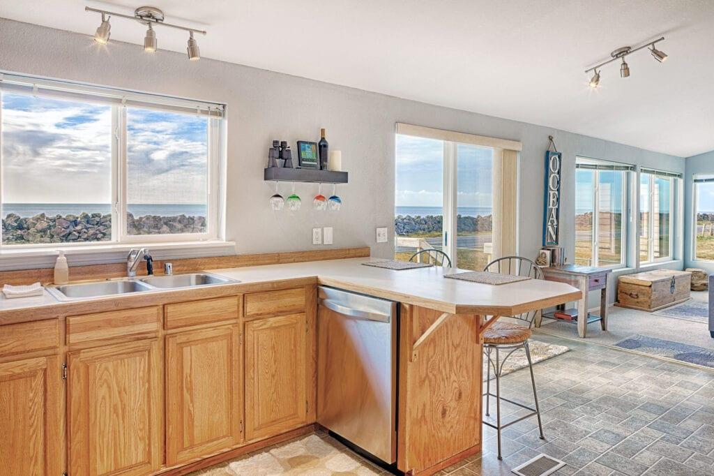 Countertop in modern kitchen