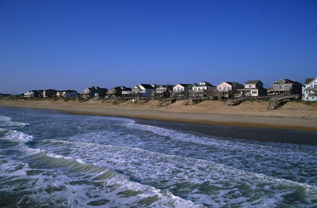 rows of beach houses