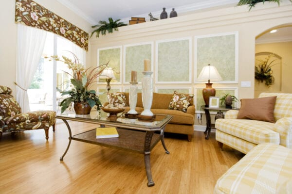 Living room with beautiful hardwood floors