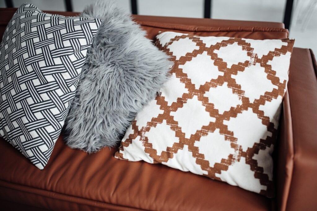 collection of throw pillows