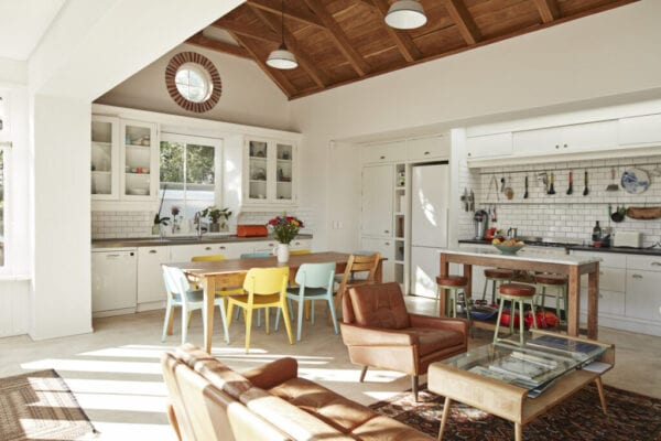 Interior of kitchen & living room at home