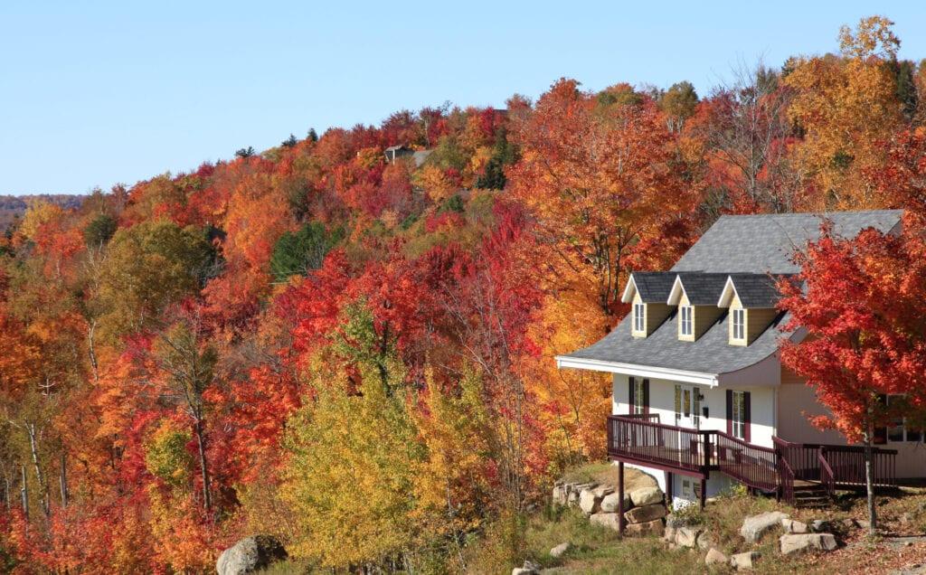 Villa in autumn, Mont Tremblant, Quebec, Canada