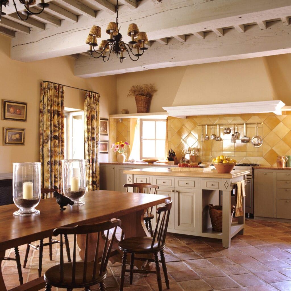rustic barn kitchen