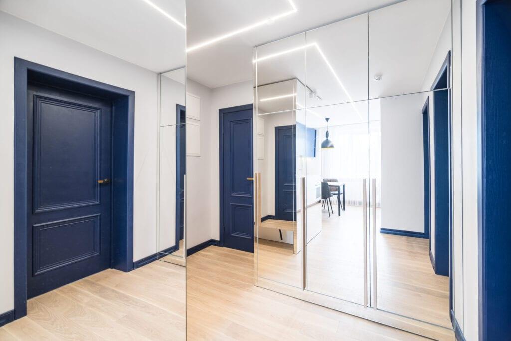 A spacious corridor in the private apartment.