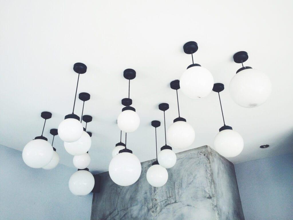 hanging circle lamps