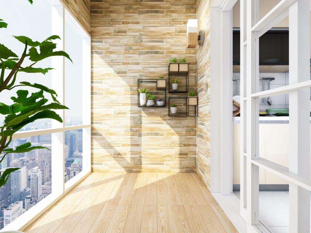 Floor to ceiling window room