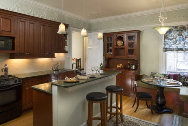 Home Kitchen with Vintage Architecture