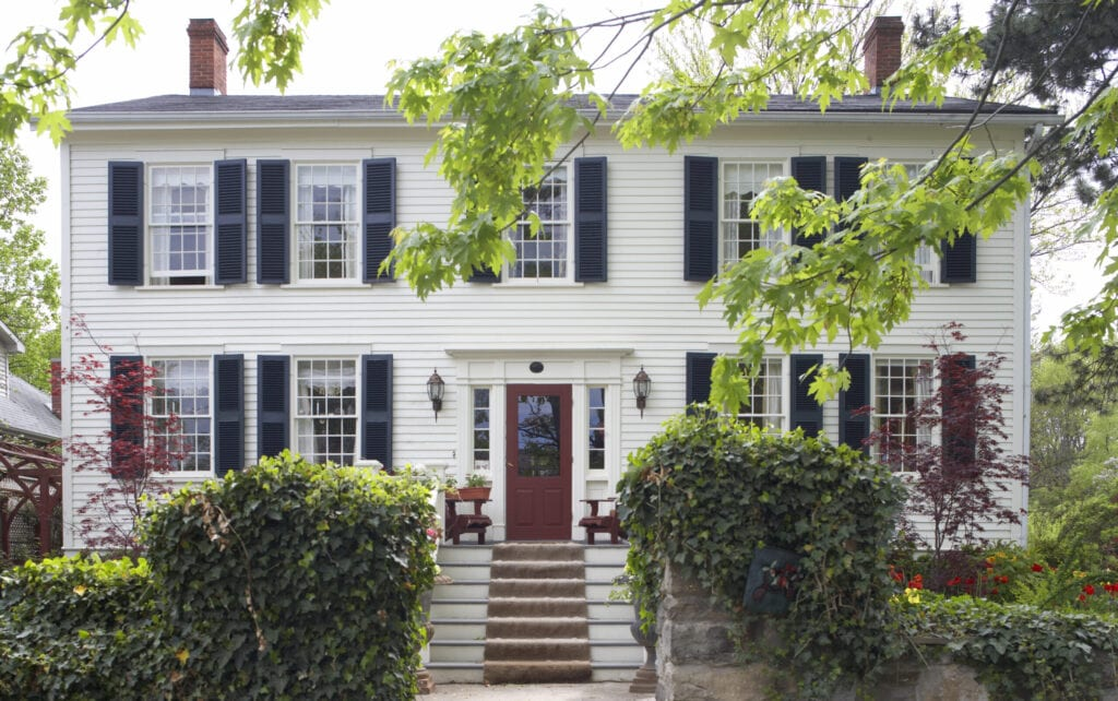 """""""Old colonial house in North America,  front elevation"""""""