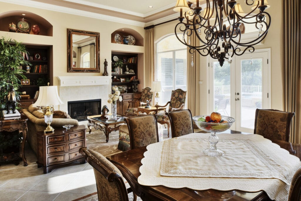 antique furniture, traditional living room