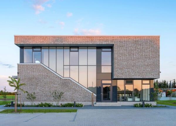 Large modern home with big windows