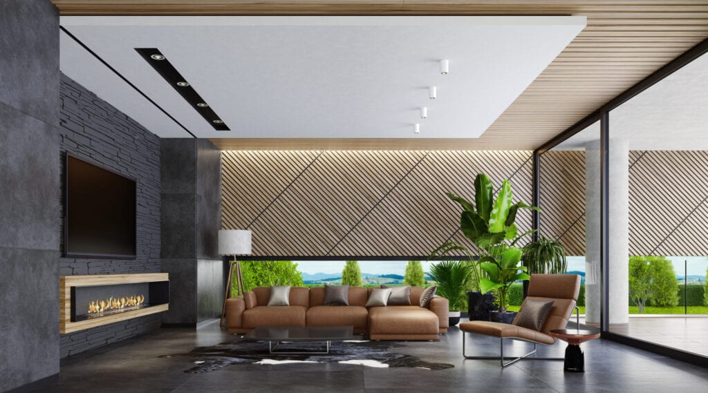 Modern spacious living room