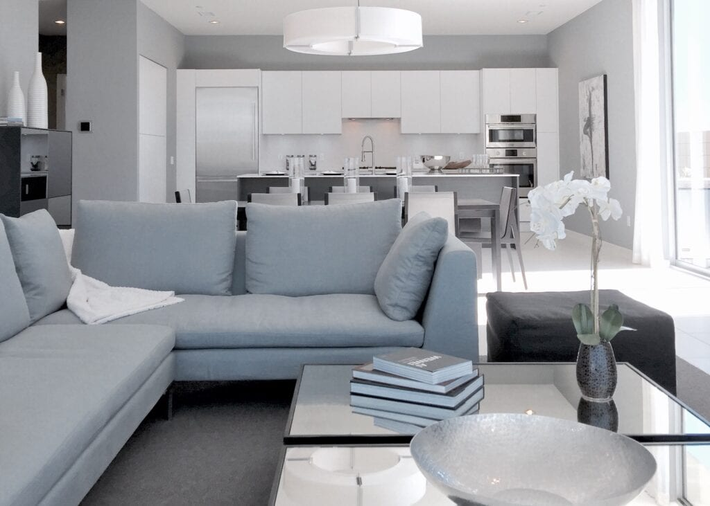 grey tone living room