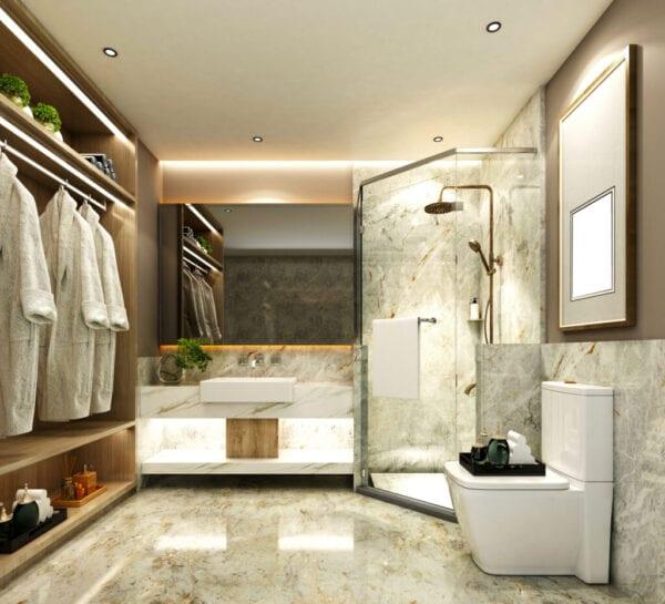 3D Render of Bathroom