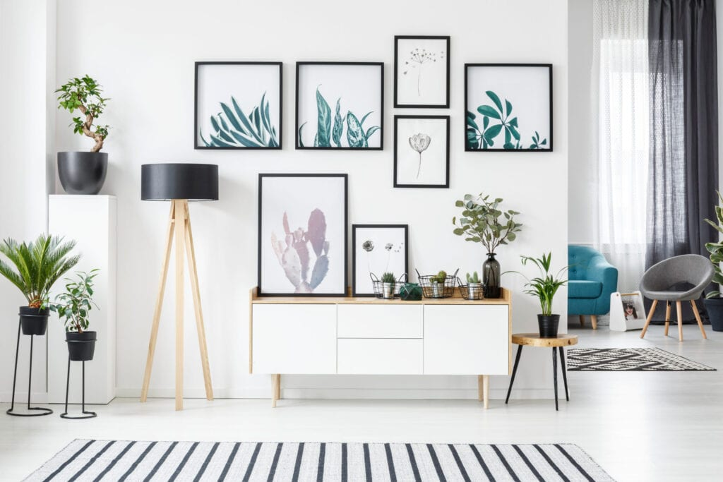 Wall art design, hanging pictures gallery wall