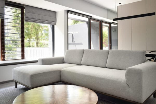 Sofa in a luxury living room