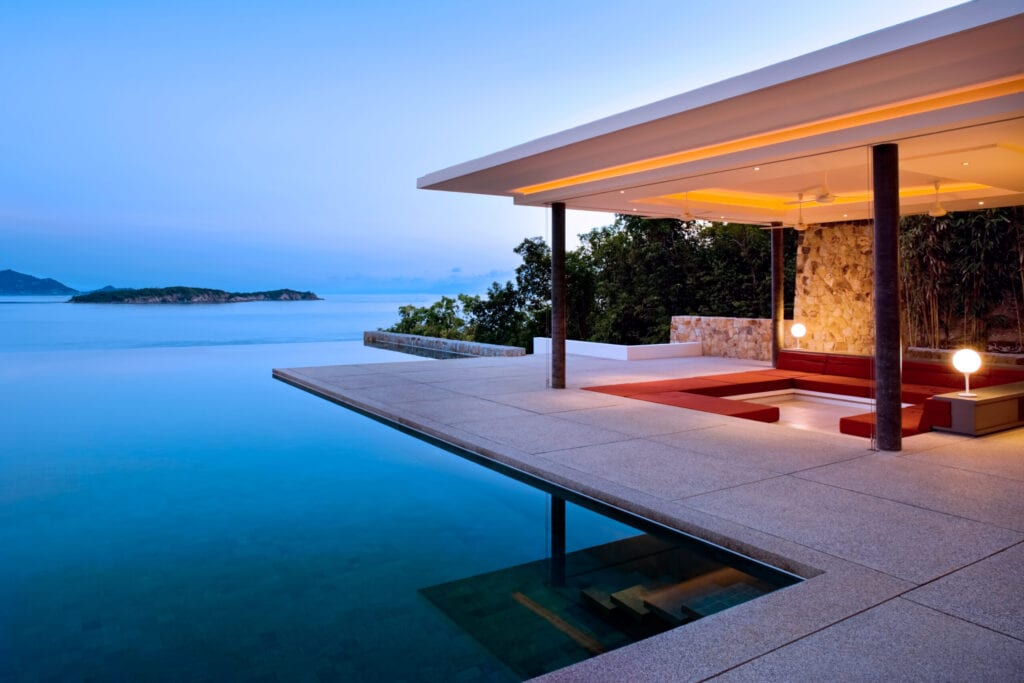 Tropical Island Home With Infinity Pool.