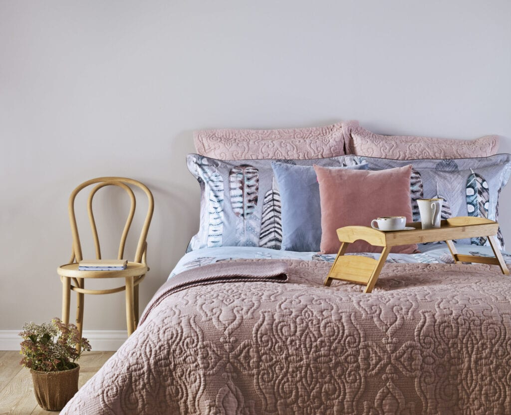 Cozy Bedroom with pastel colors