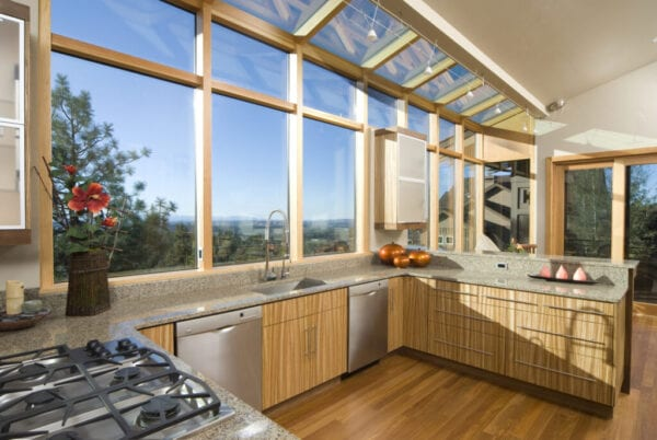 Modern Asian style, sun filled, kitchen