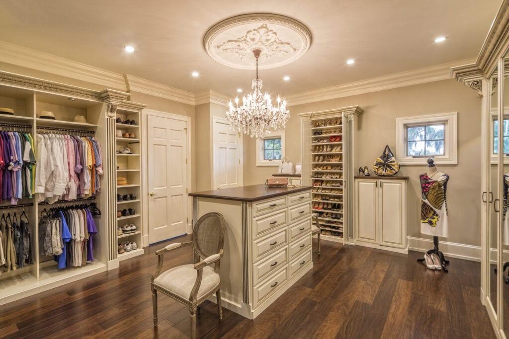 Beautiful custom closet in an estate home