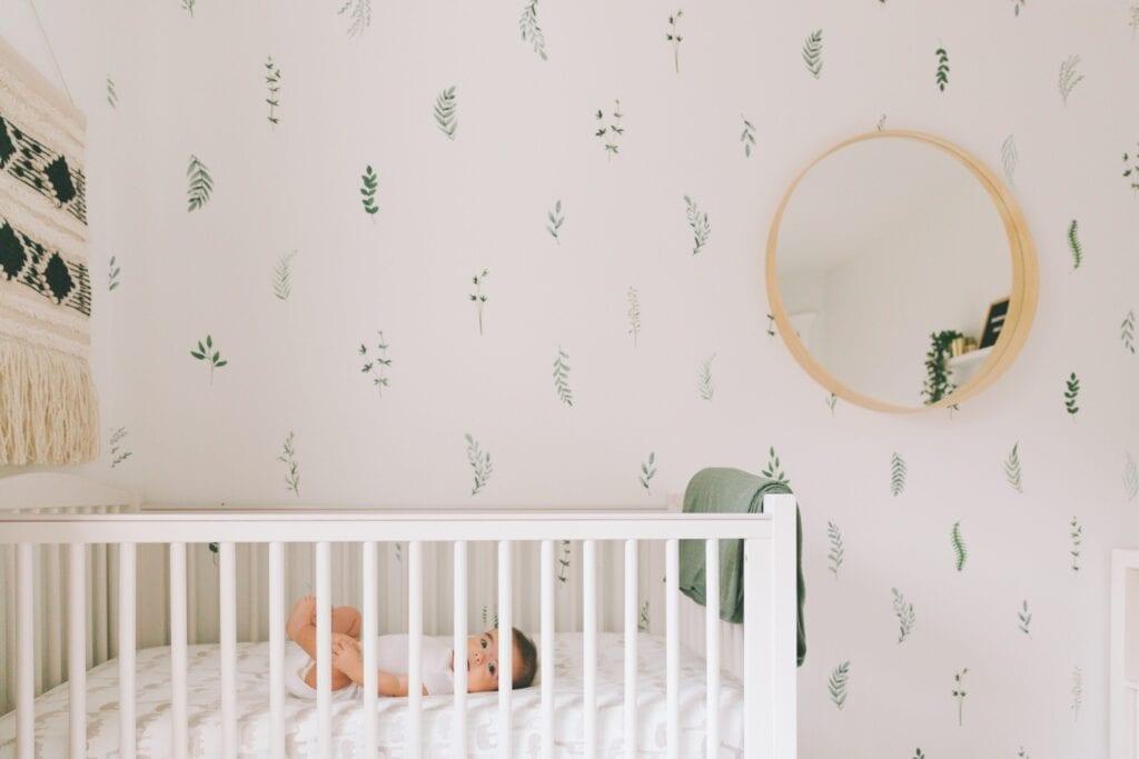 bold theme baby room