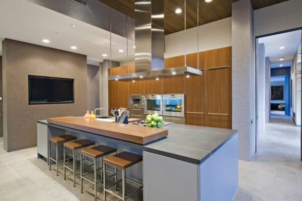 split level kitchen island idea