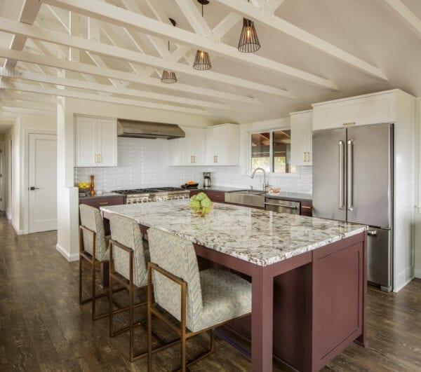 Accent kitchen color island