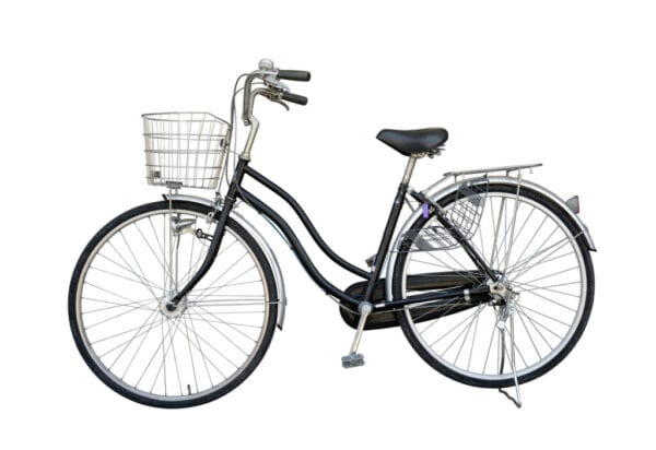 Bicycle Against White Background