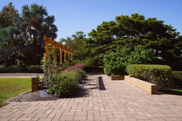 Arches Amongst Landscaped Gardens