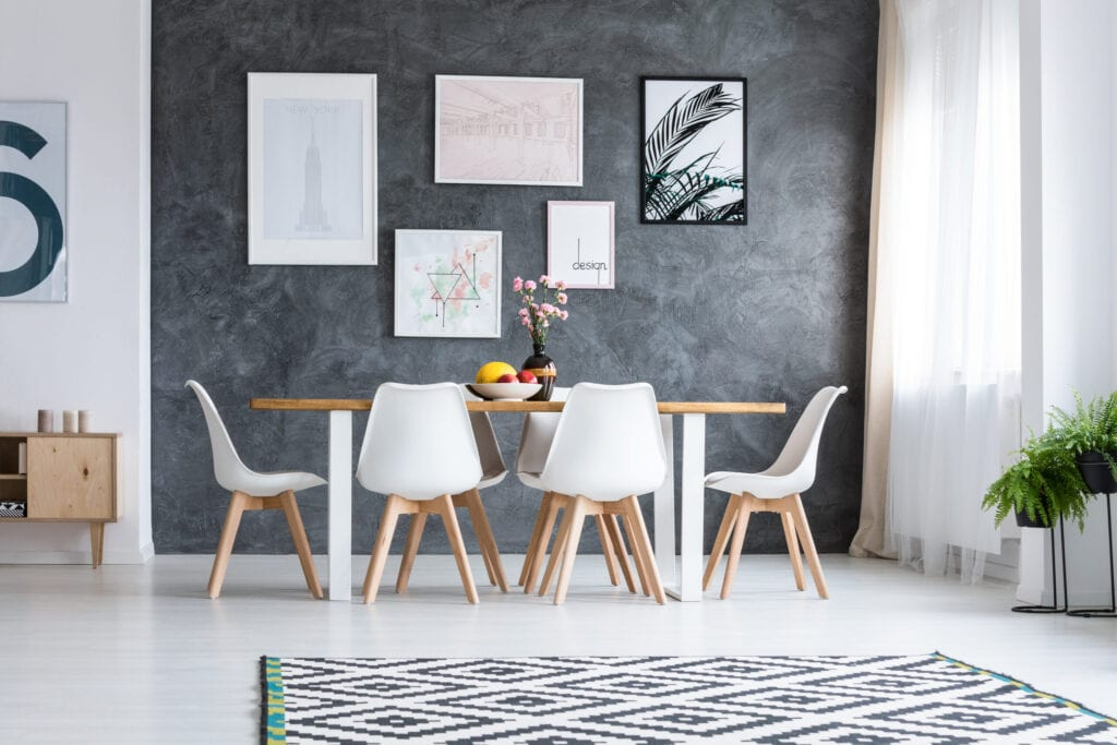 gallery wall dinning room