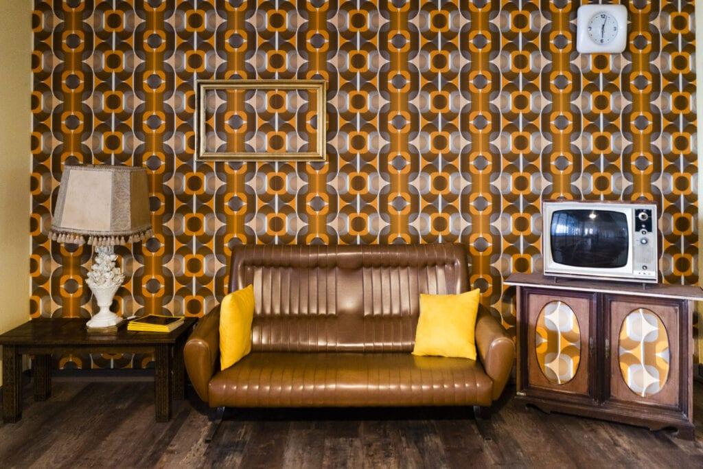 Interior of a vintage living room