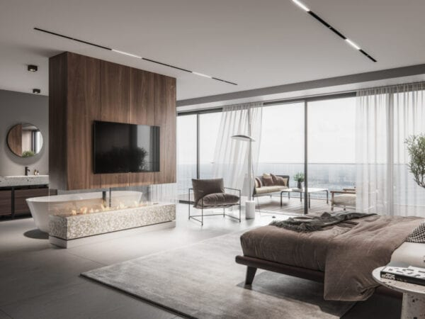 Luxurious master bedroom interior