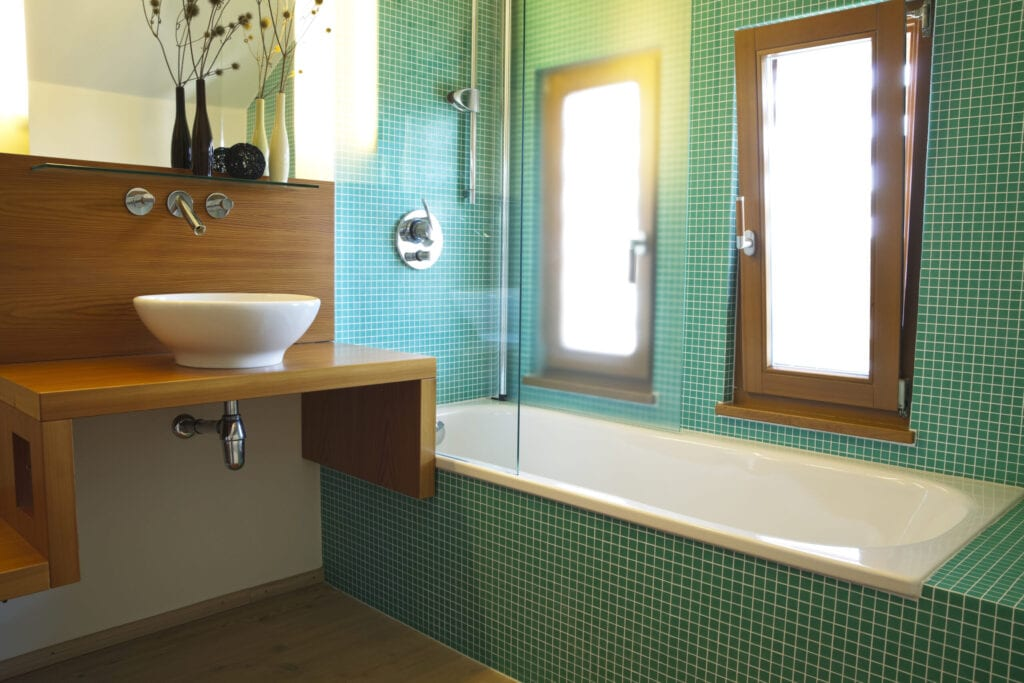 """""""contemporary bathroom with bathtub, shower, modern sink and faucetClick here to view more related images:"""""""