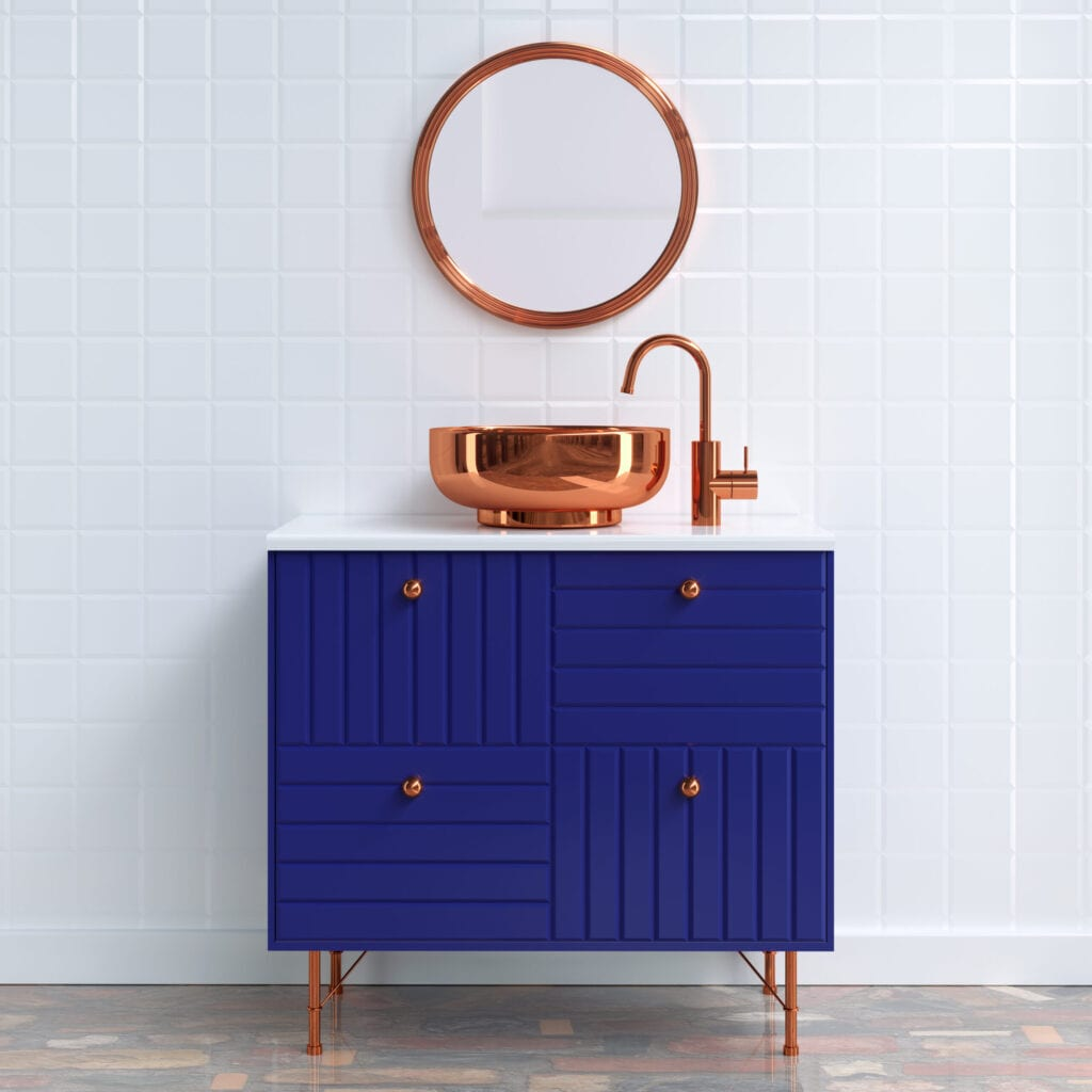 bathroom furniture 3d render