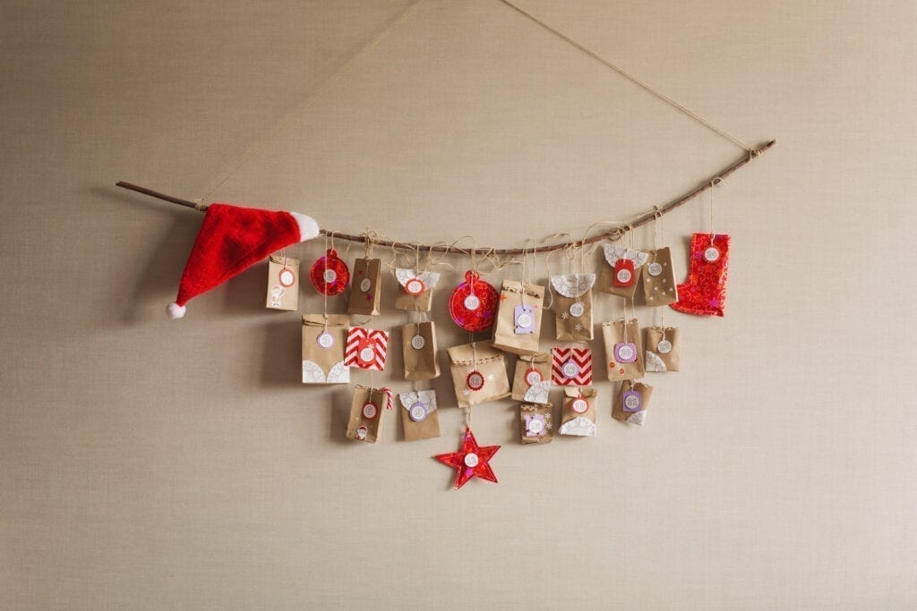 Hanging branch Christmas decor
