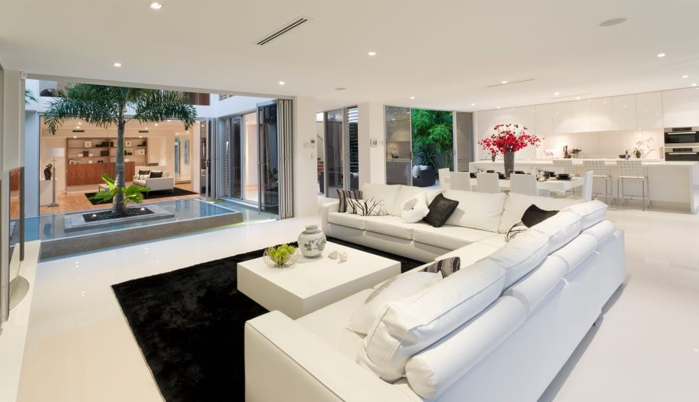 Open concept, luxury modern home